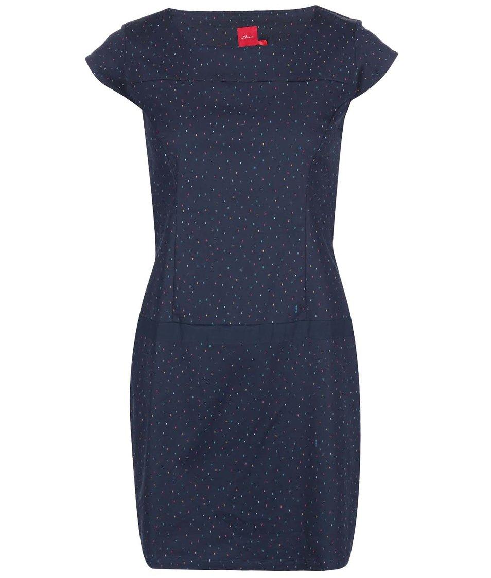 Tmavě modré pouzdrové šaty se vzorem Skunkfunk Albeiz