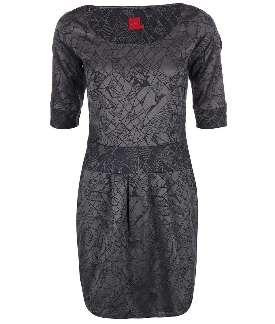 Šedé šaty se vzorem Skunkfunk Haritza