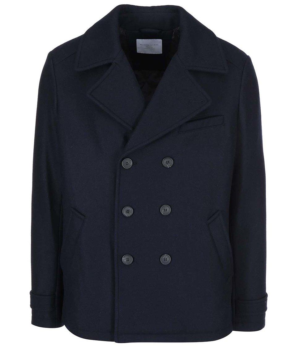 Tmavě modrý kabát Selected Mercer