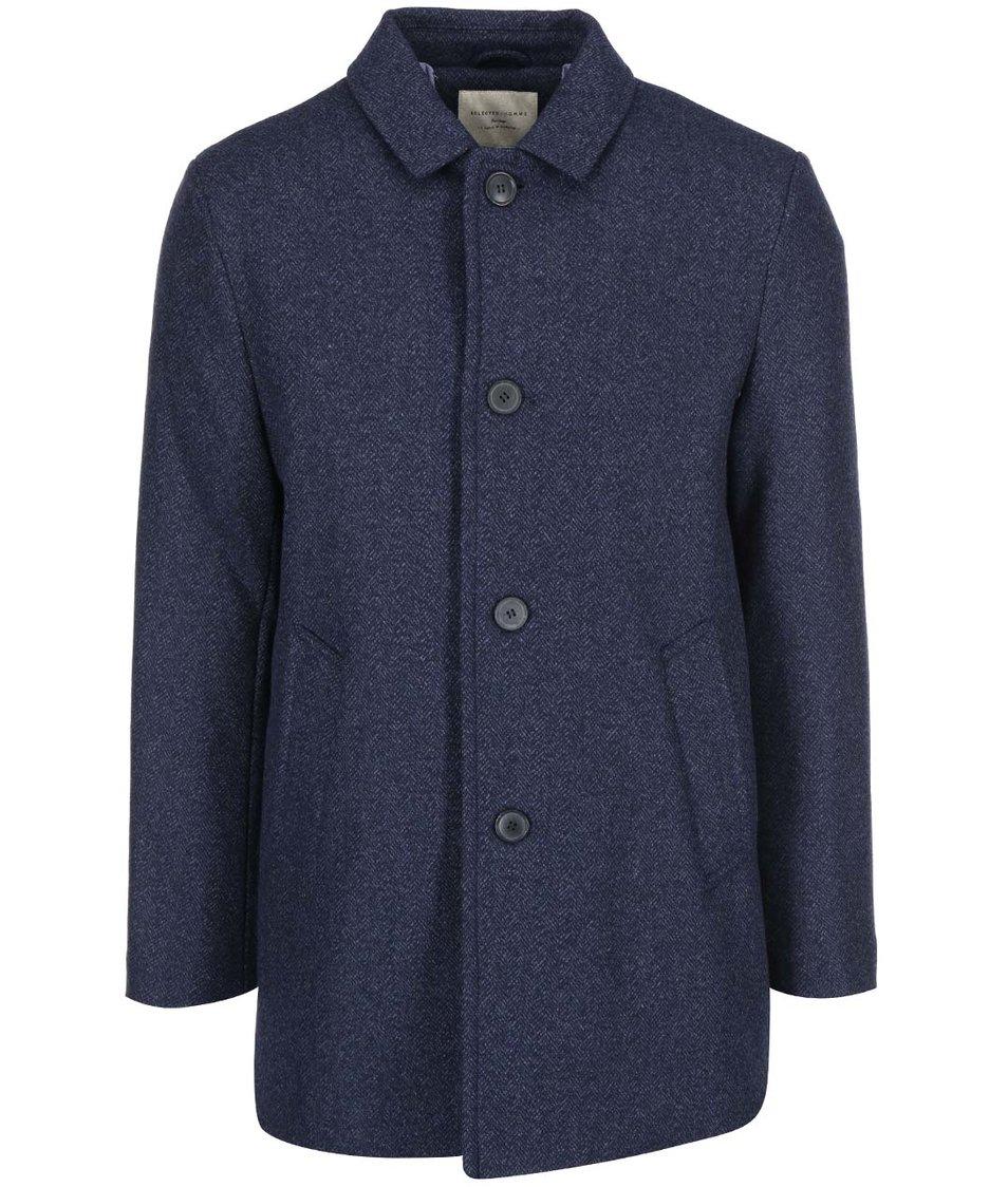 Tmavě modrý kabát Selected Mash