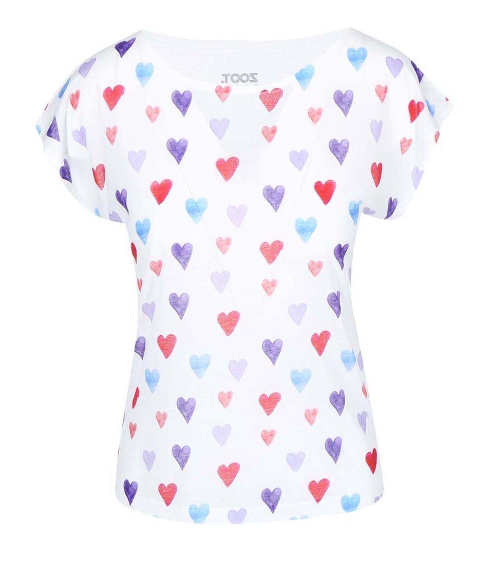 Bílé dámské tričko s potiskem ZOOT Originál Srdce