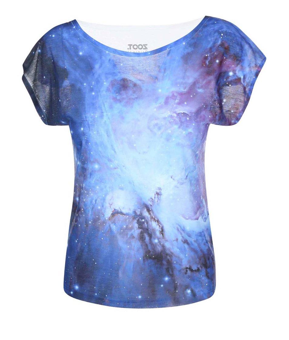 Modré dámské tričko s potiskem ZOOT Originál Vesmír