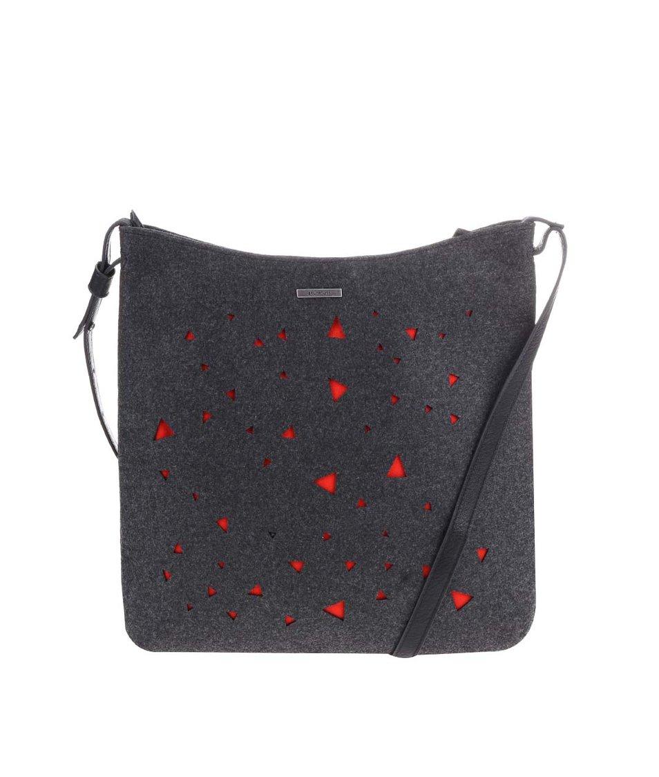 Tmavě šedá kabelka s oranžovými detaily Skunkfunk Caseres
