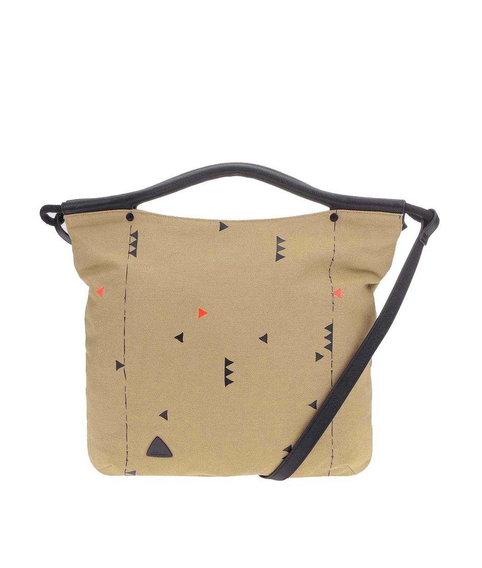 Béžová kabelka se vzory Skunkfunk Josa