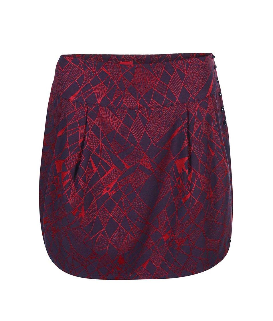 Červeno-fialová vzorovaná sukně Skunkfunk Amagoia