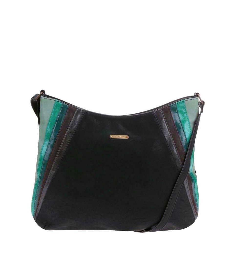 Černá kabelka se zelenými pruhy Skunkfunk Riba