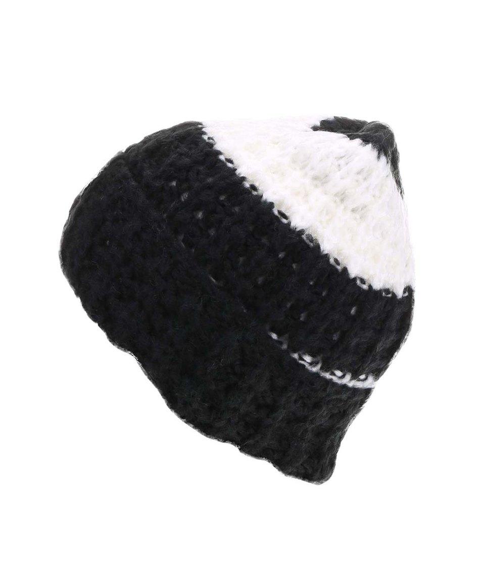 Černo-bílá dámská čepice Cheap Monday Want