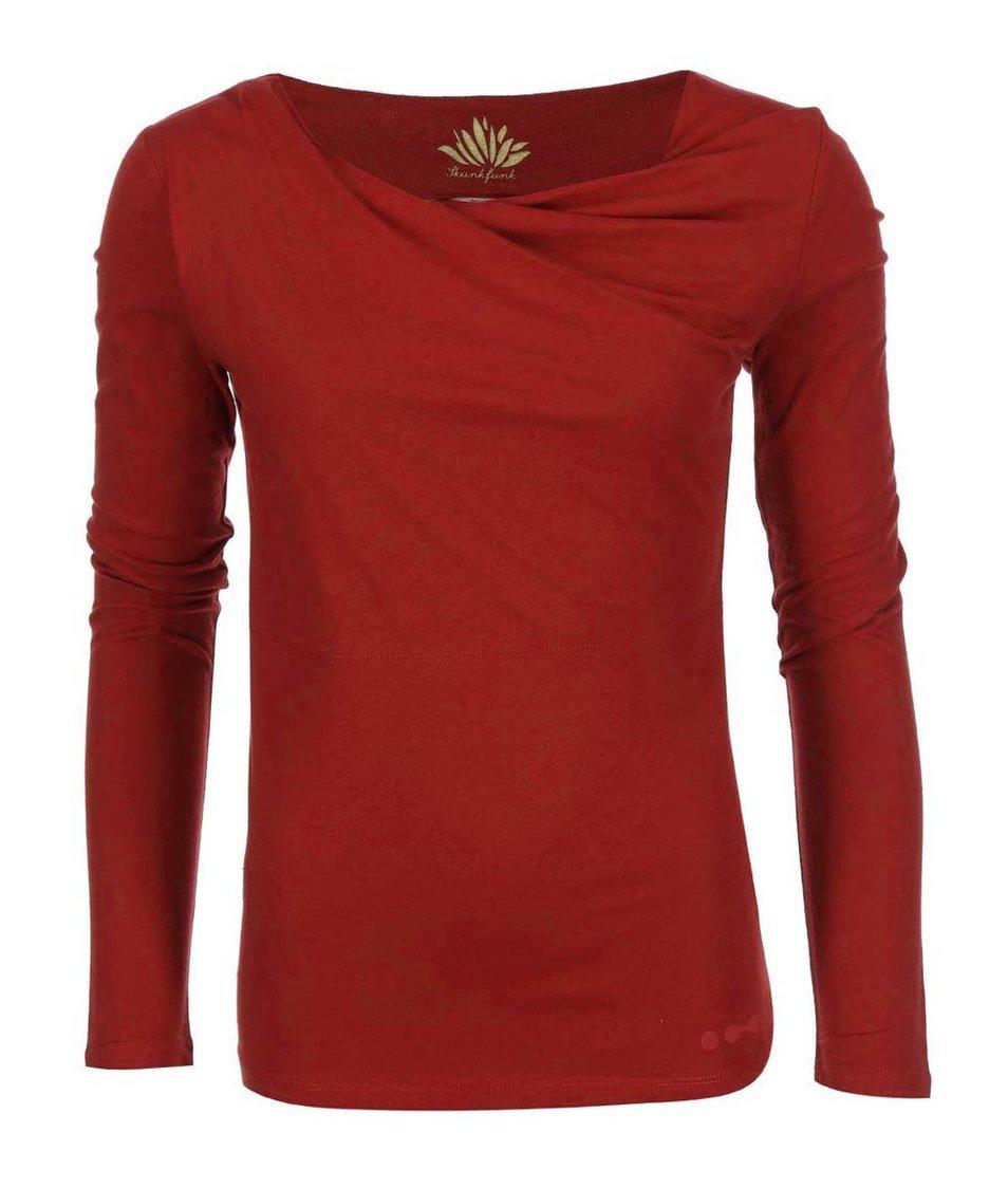 Červené triko s dlouhým rukávem Skunkfunk Bi