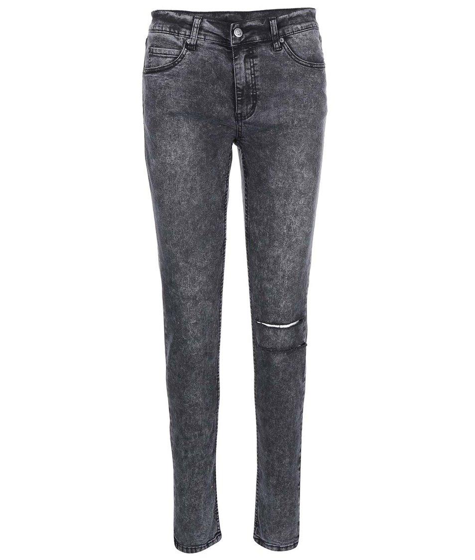 Černé dámské roztrhané džíny Cheap Monday Tight Youth
