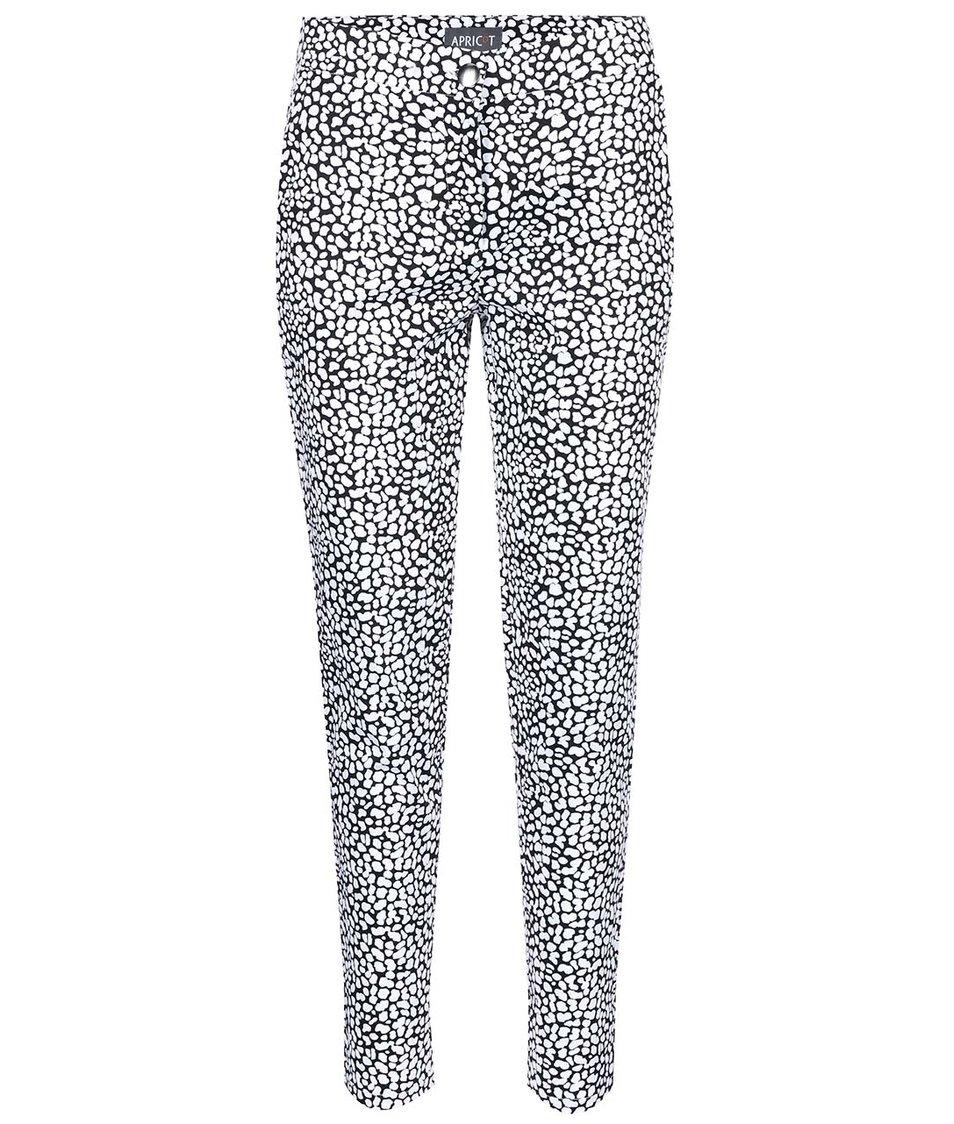 Černo-bílé kalhoty se vzorem Apricot