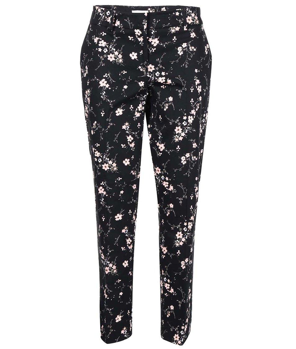 Černé květované kalhoty Apricot
