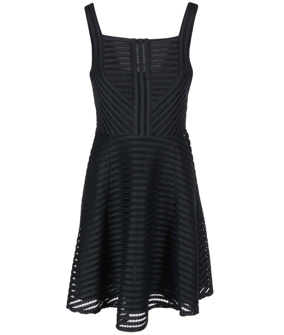 Černé šaty na ramínka Apricot