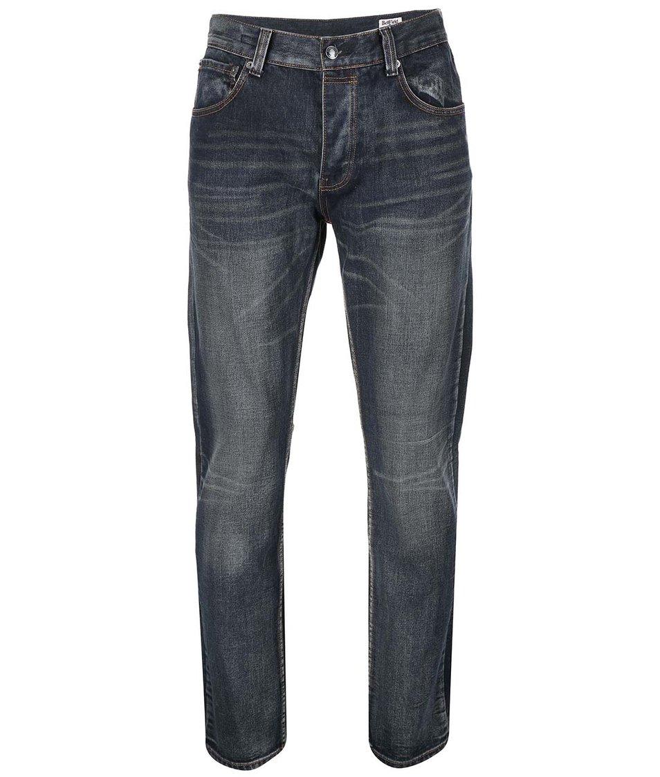 Šedomodré pánské slim džíny s opraným efektem Bellfield Phoenix