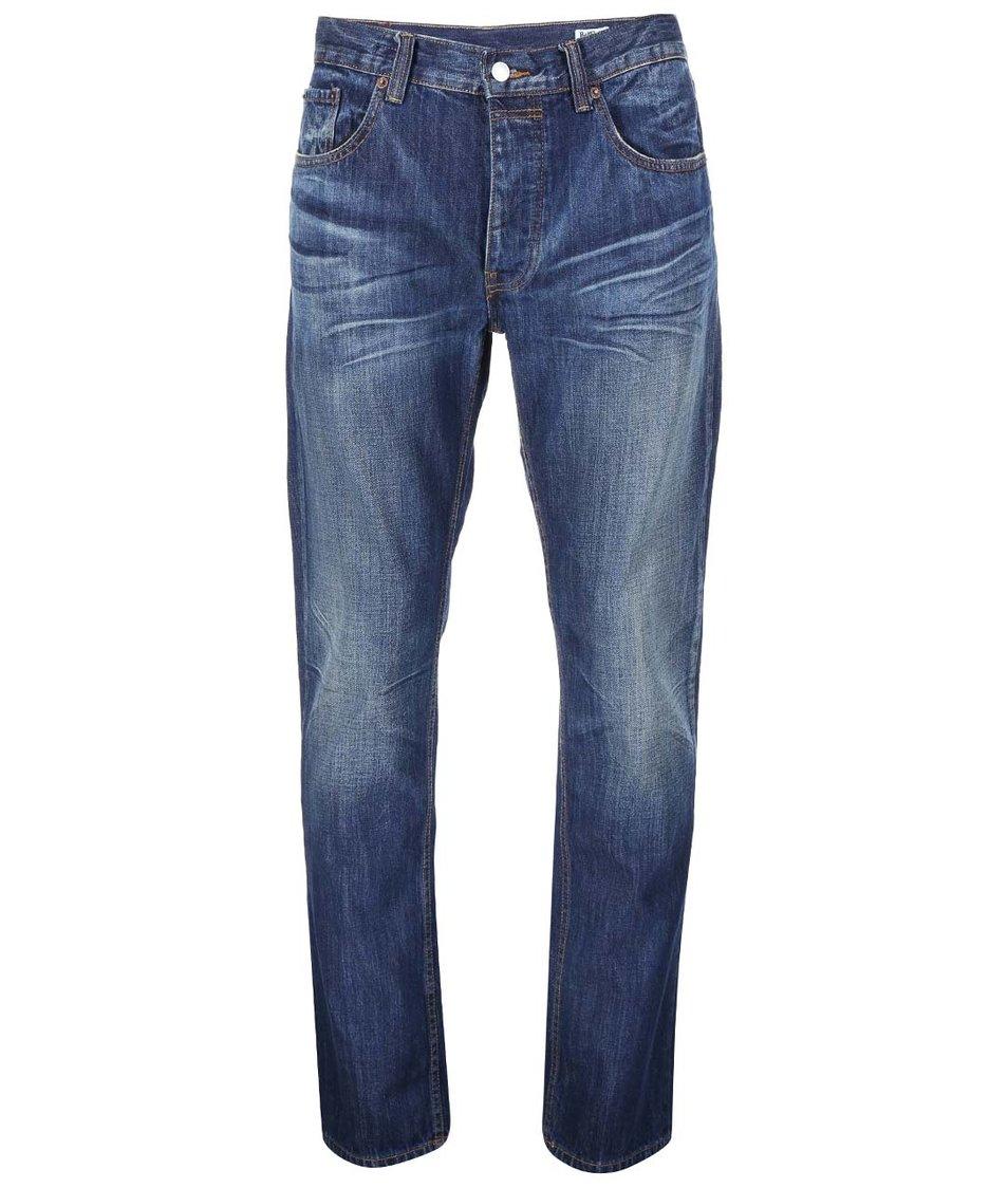 Modré pánské slim džíny s vyšisovaným efektem Bellfield Phoenix