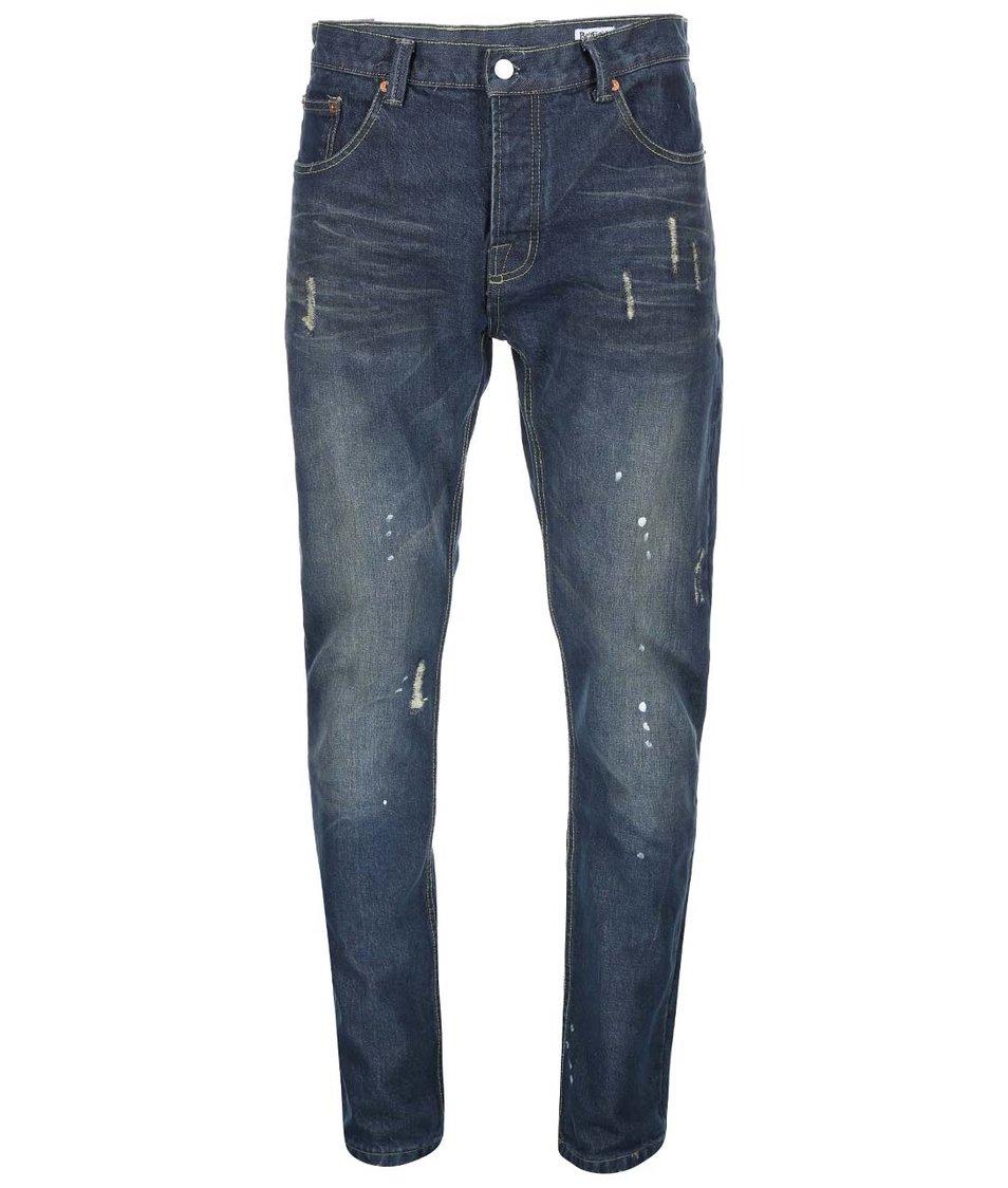 Tmavě modré pánské džíny s vintage efektem Bellfield Gonzo Hemmingway