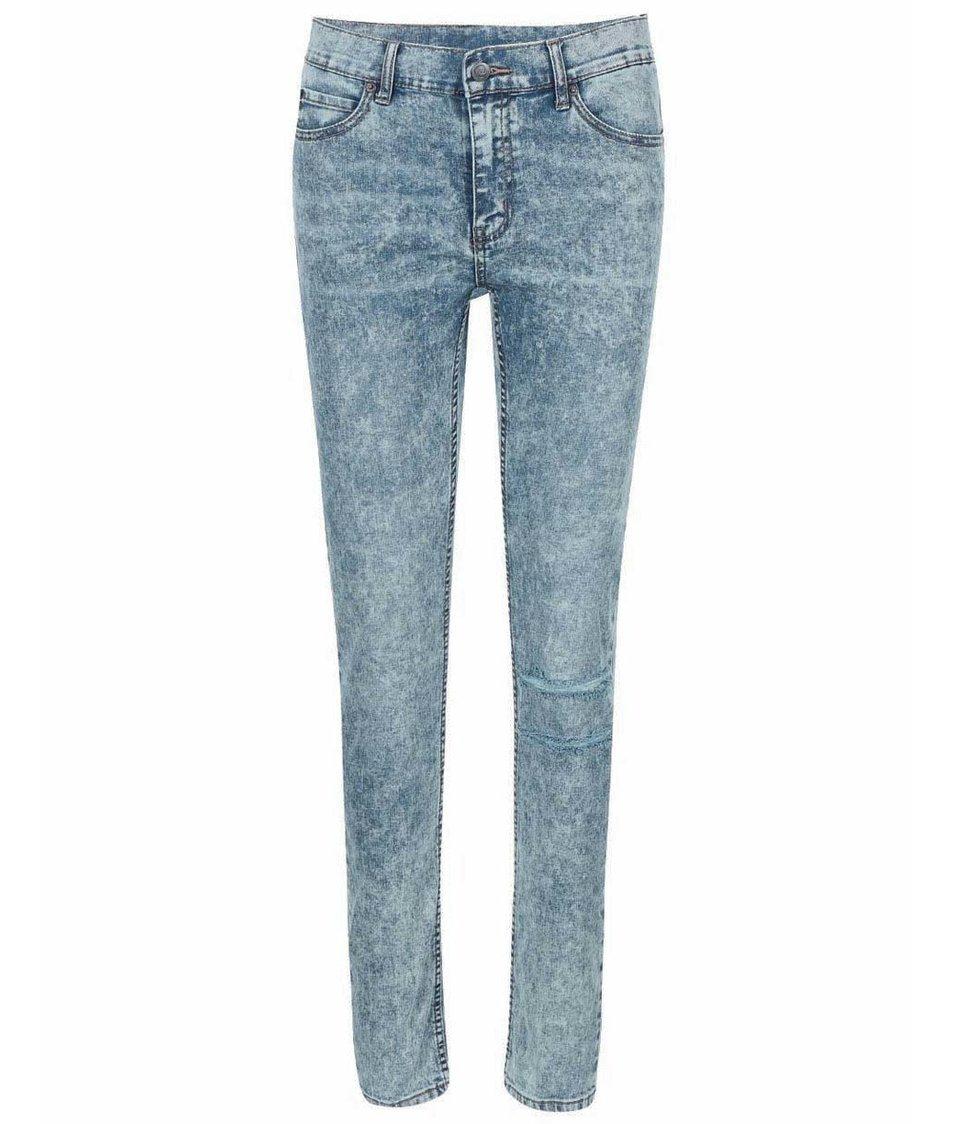 Světle modré dámské roztrhané džíny Cheap Monday Tight Youth