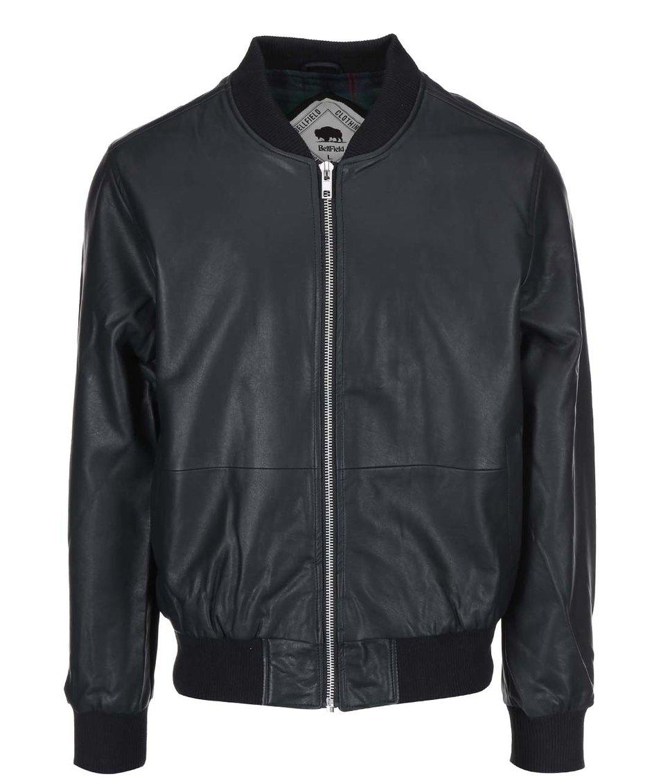 Černá pánská koženková bunda Bellfield Zed