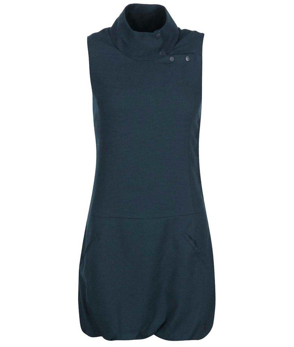 Modré šaty se stojáčkem Skunkfunk Araika