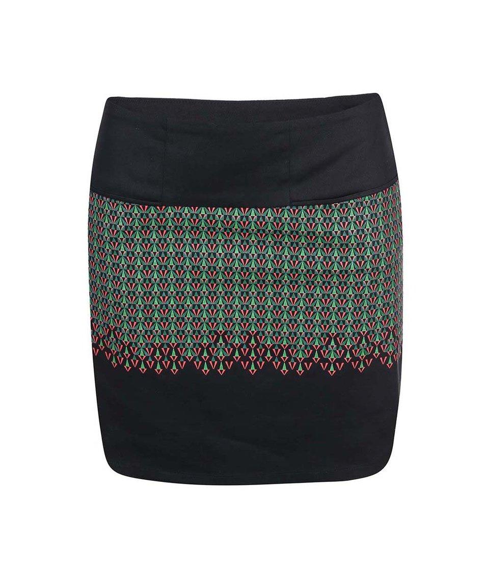 Černá vzorovaná sukně Skunkfunk Barkane