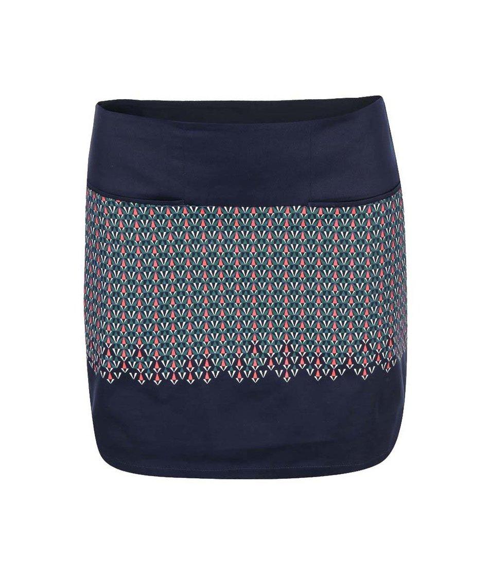 Modrá vzorovaná sukně Skunkfunk Barkane