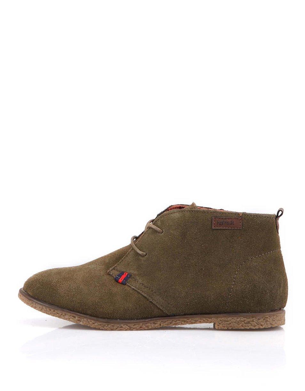 Béžovohnědé kožené kotníčkové boty Refresh (50573) od ZOOT