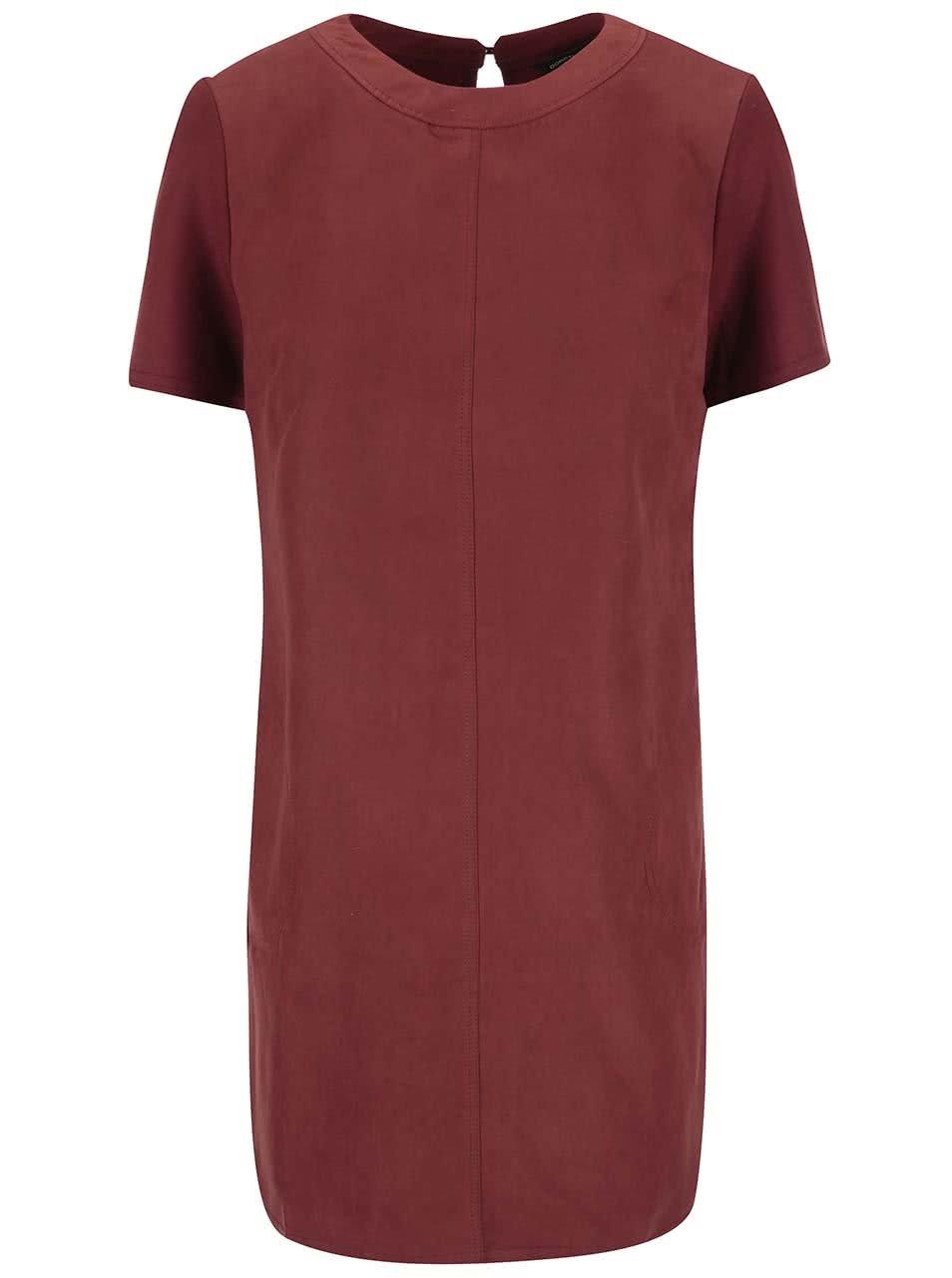 Červenohnědé šaty s krátkým rukávem Dorothy Perkins 0003399176