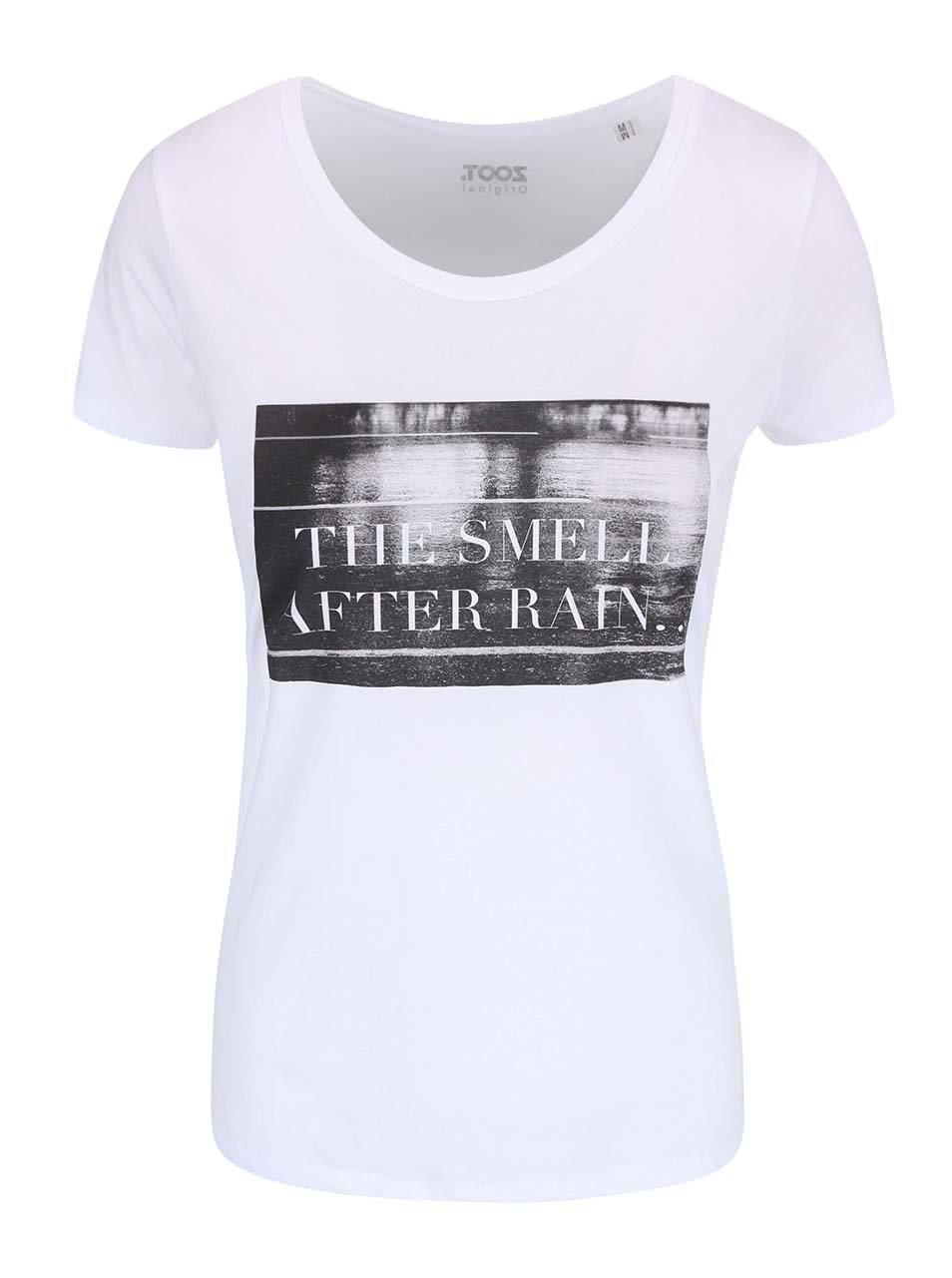 aade6d9dc10b Bílé dámské tričko ZOOT Originál After Rain
