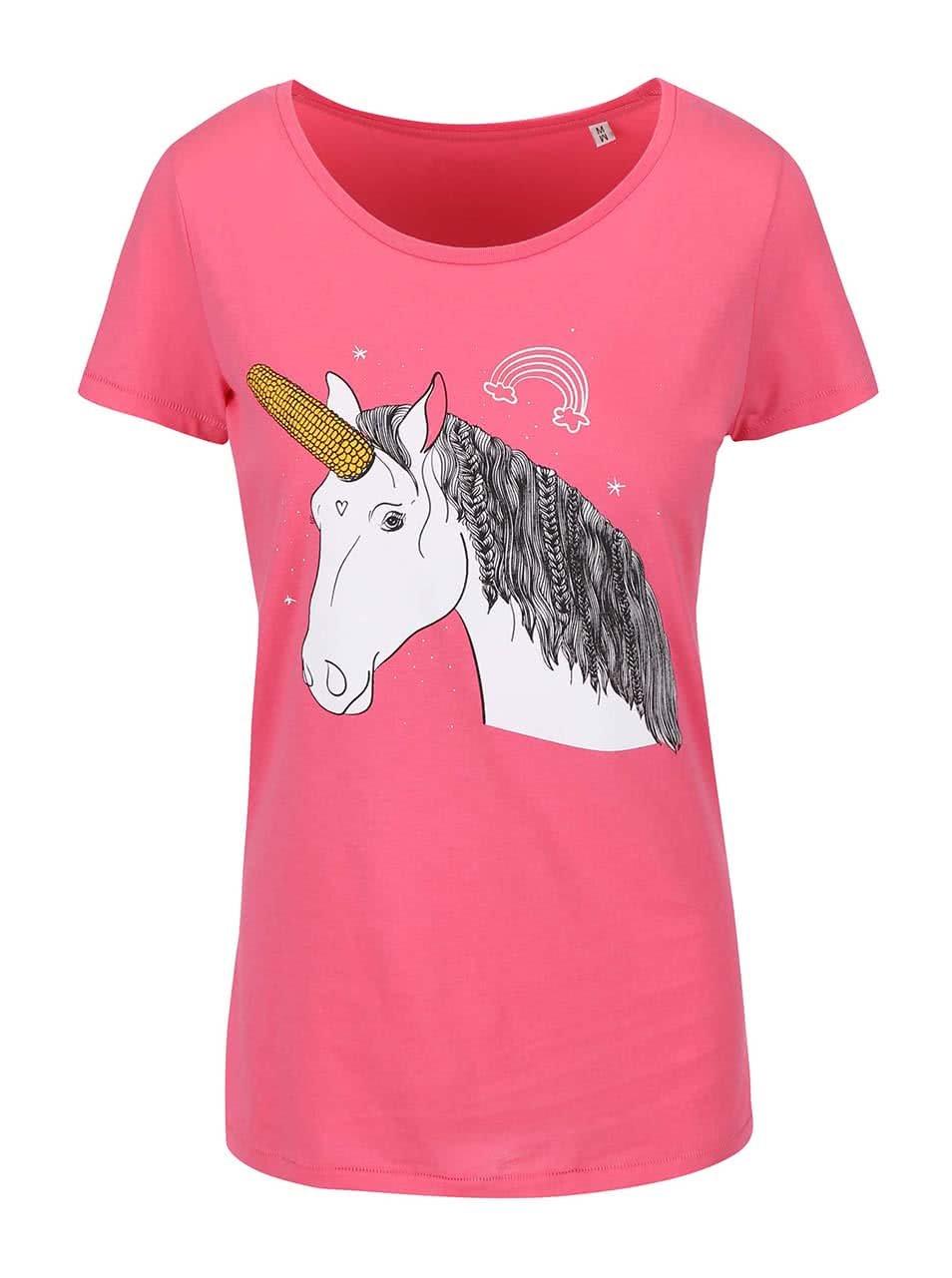 f5ef48adaffa Růžové dámské tričko ZOOT Originál Unicorn
