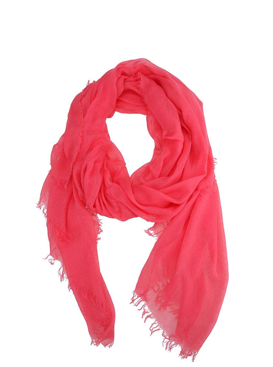 Malinově růžový šátek INVUU London 9f455e2846