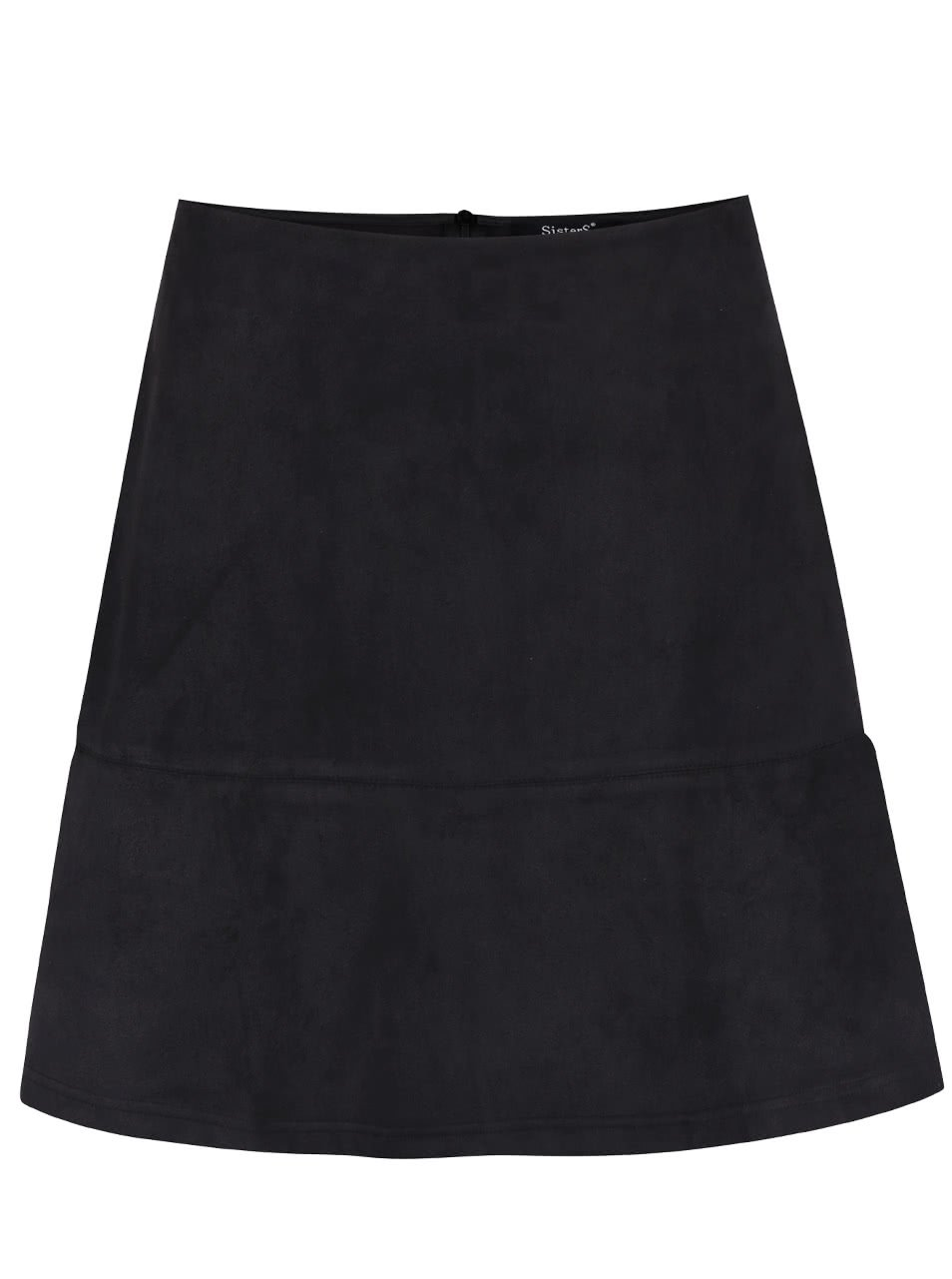 Černá sukně v semišové úpravě SisterS Point Sera bdf7c0edae