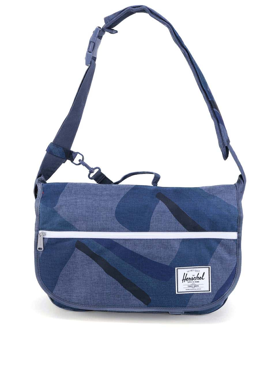 57c437bf25c Modrá taška přes rameno se vzorem Herschel Pop Quiz Messenger
