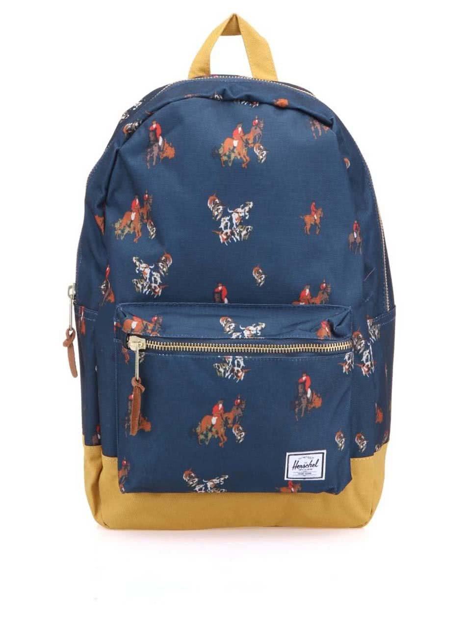 Světle modrý batoh s hnědými popruhy Herschel Little America 92622be587