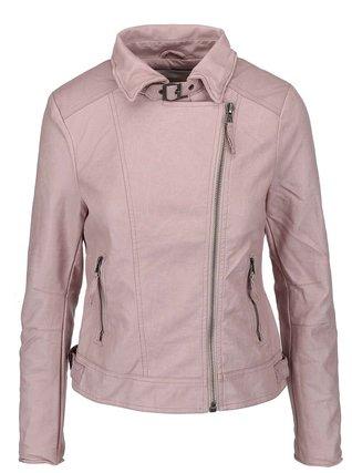 YAYA - Růžová koženková biker bunda - 1