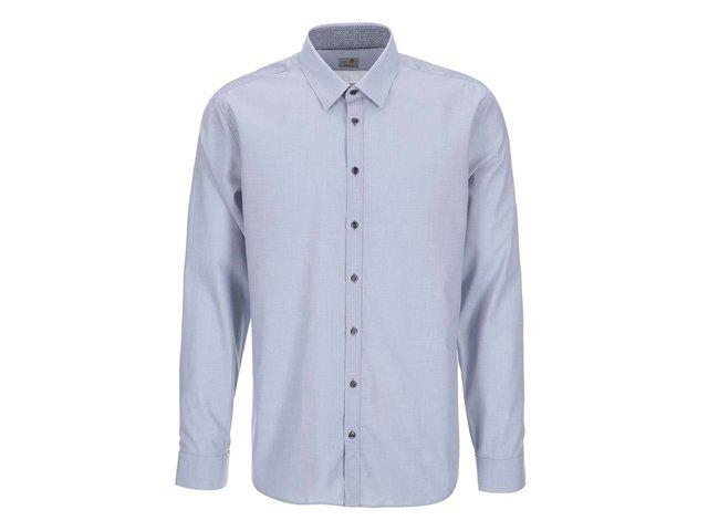 fe0632805db8 Modrosivá košeľa s jemným vzorom Seidensticker Modern Kent Patch