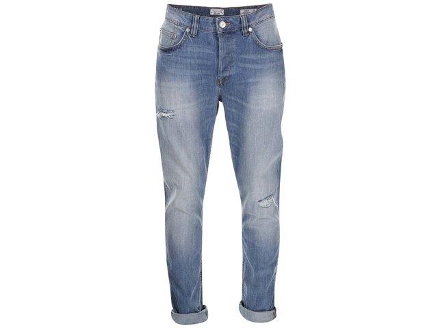 Modré džíny s ošoupaným efektem ONLY & SONS Weft
