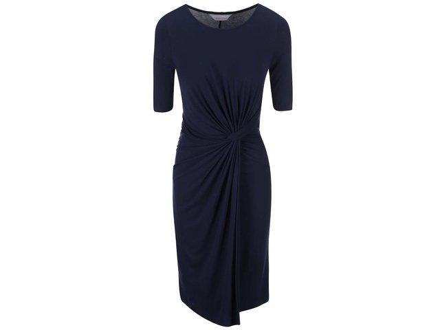"""Tmavě modré šaty s """"uzlem"""" v pase Dorothy Perkins"""