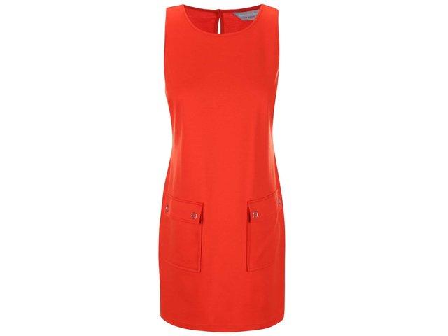 Červené šaty s kapsami Dorothy Perkins