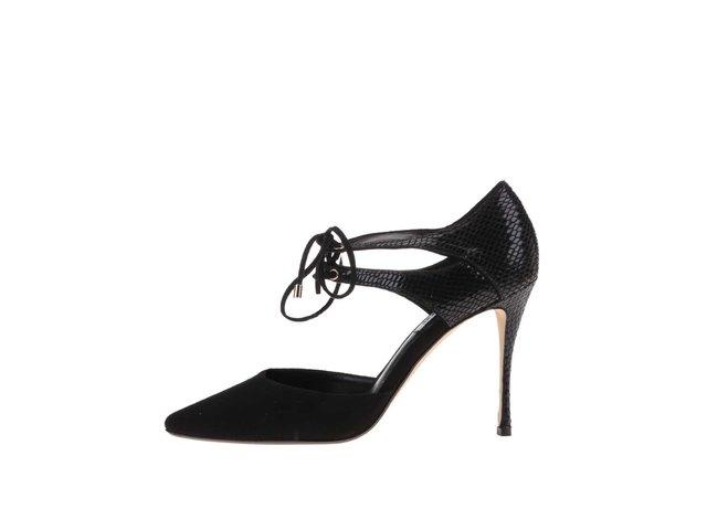 Černé boty na podpatku Dune London Charleen