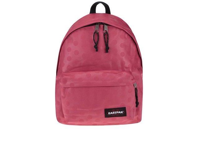 Tmavě růžový dámský batoh s puntíky Eastpak Padded Pak´r