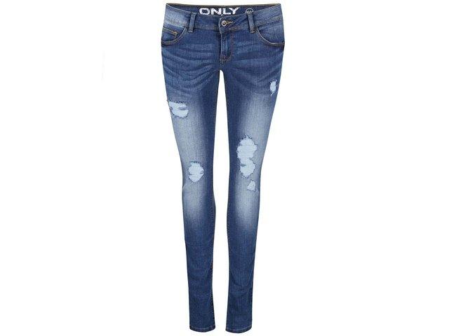 Tmavě modré džíny s nízkým sedem ONLY Coral