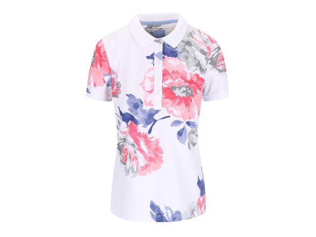 Bílé dámské květované polo tričko Tom Joule Trinity