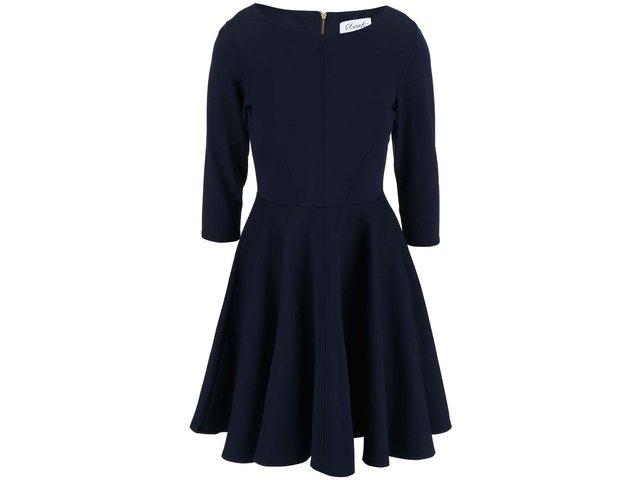 Tmavě modré šaty s 3/4 rukávy Closet