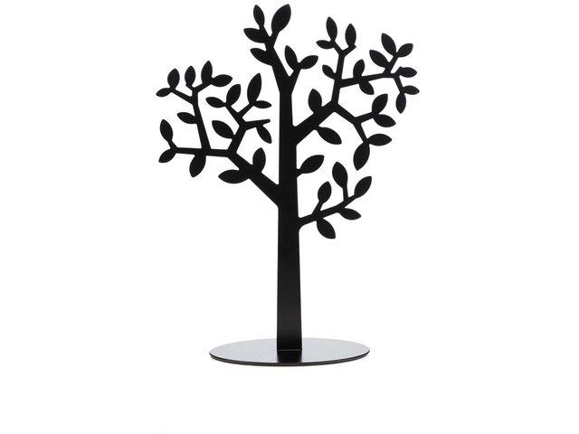 Černý stojan na fotky a šperky ve tvaru stromu Umbra Laurel