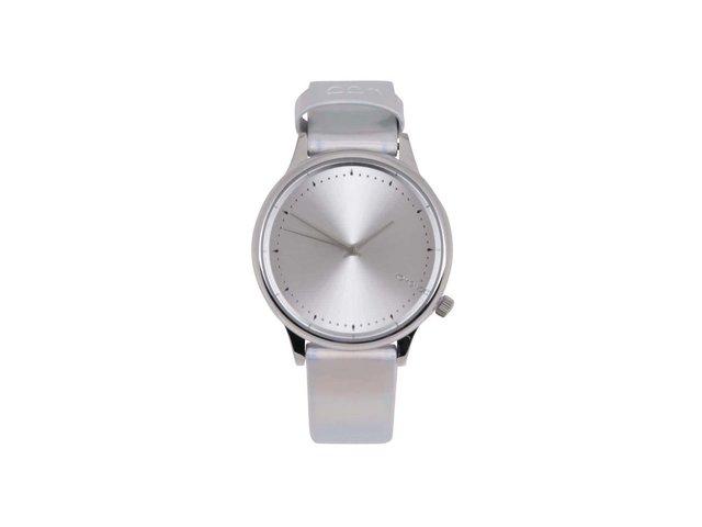 Dámské hodinky ve stříbrné barvě s holografickým efektem Komono Estelle Iridiscent