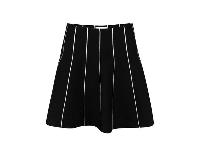 Černá sukně s bílými proužky Apricot
