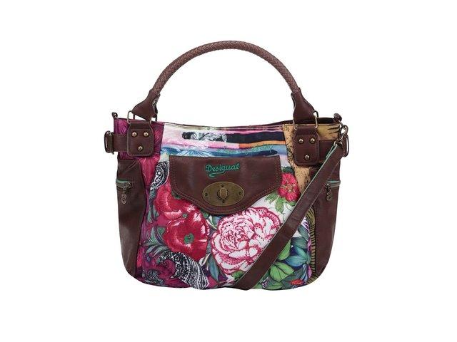 Hnědá kabelka s květinami Desigual McBee Sumatra