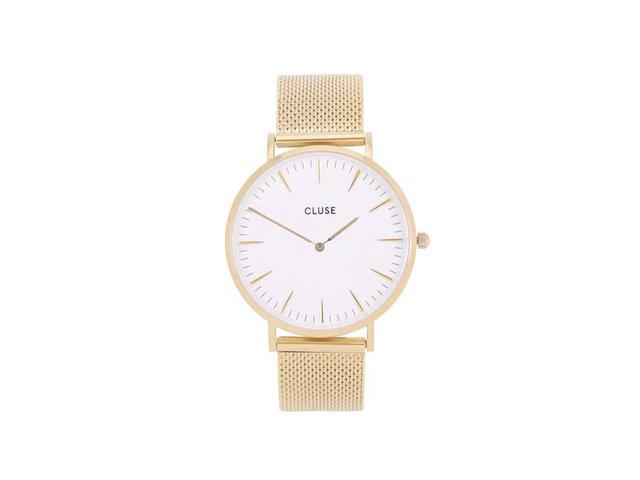 Dámské hodinky v zlaté barvě CLUSE La Bohème Mesh