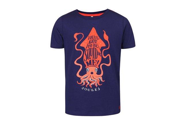 Tmavě modré klučičí triko s potiskem chobotnice Tom Joule