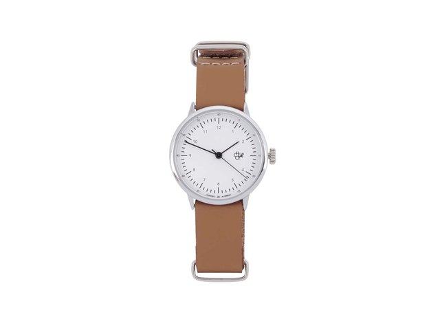 Hnědé dámské hodinky s koženým páskem Cheapo Harold Mini