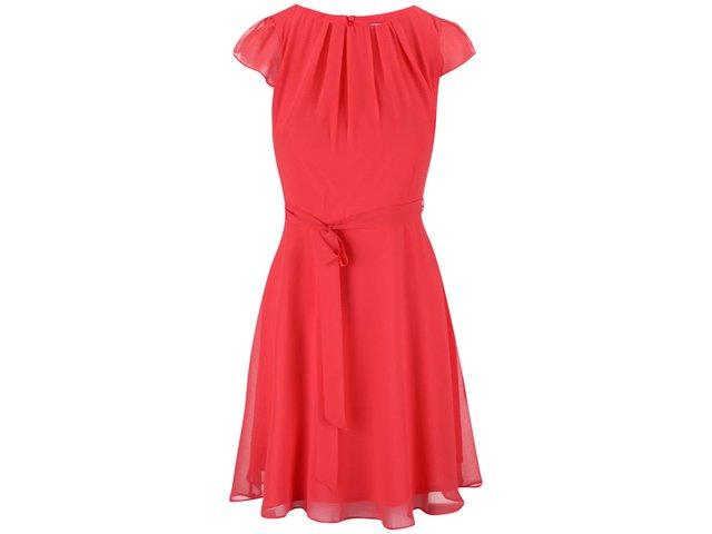 Růžové šaty s vázáním Dorothy Perkins Petite